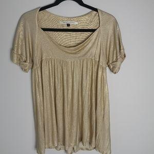 Vintage Diane von Furstenberg Etienne gold top